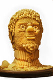 Man's head is made of pasta. Stock Photos