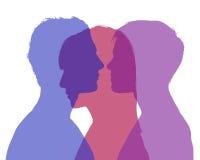 Man's infidelity Stock Images