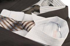 Man's jacket, shirt, tie. Royalty Free Stock Photo
