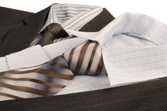 Man's jacket, shirt, tie. Royalty Free Stock Image