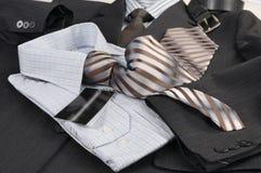 Man's jacket, shirt, tie. Royalty Free Stock Photos