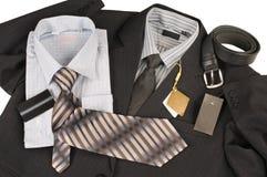 Man's jacket, shirt, tie. Stock Image