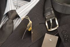 Man's jacket, shirt, tie. Stock Images