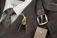 Man's jacket, shirt, tie. Stock Images