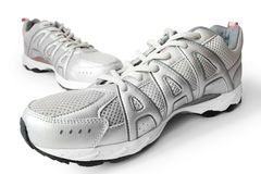 Man's jogging shoes. Isolated on white Stock Photography