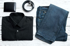 Man's latest trends and fashion accesories. Royalty Free Stock Photography