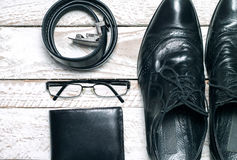 Man's latest trends and fashion accesories. Royalty Free Stock Photo