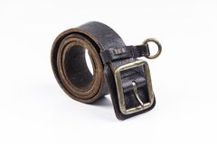 Man's leather belt Stock Photography