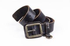 Man's leather belt Stock Photo