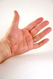 Man's Left Hand. Extended male left hand Royalty Free Stock Photo