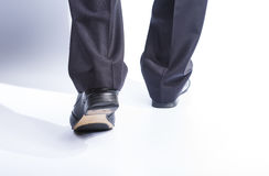 Man's legs in classic suit and leather shoes Royalty Free Stock Photo