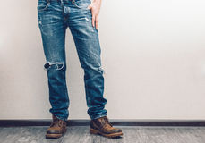 Man's legs Royalty Free Stock Photo
