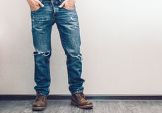 Man's legs Royalty Free Stock Image