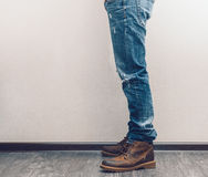 Man's legs Royalty Free Stock Images