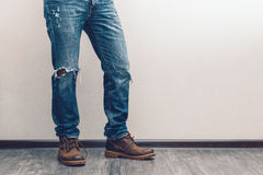 Man's legs Stock Photography