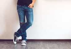 Man's legs Stock Image