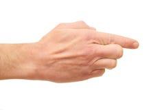 Man's martial palm Stock Photo