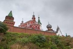 Man's monastery on a hill Stock Photos