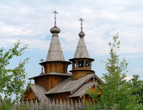 Man's monastery. Monastic village completely constructed of a tree. Royalty Free Stock Images