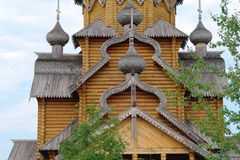 Man's monastery. Monastic village completely constructed of a tree. Royalty Free Stock Image