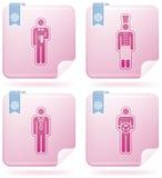 Man's Occupation. (part of Flamingo Square 2D Icons Set Stock Images