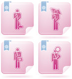 Man's Occupation. (part of Flamingo Square 2D Icons Set Royalty Free Stock Images