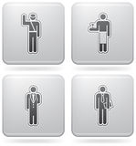 Man's Occupation. (part of Platinum Square 2D Icons Set Royalty Free Stock Photography