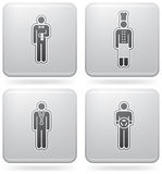 Man's Occupation. (part of Platinum Square 2D Icons Set Stock Photography