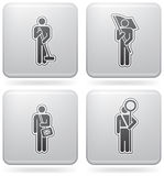 Man's Occupation. (part of Platinum Square 2D Icons Set Royalty Free Stock Photos
