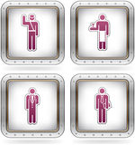 Man's Occupation. Icons set (part of the 2 Colors Chrome Icons Set Stock Photo