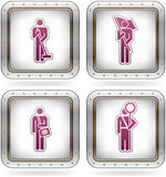 Man's Occupation. Icons set (part of the 2 Colors Chrome Icons Set Stock Photography
