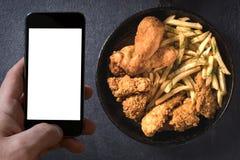 Man's ordering Stock Image