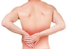 Man's pain Stock Image