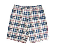Man's Plaid Shorts Stock Photography