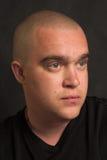 Man's portrait. Portrait of man over black background Stock Photos