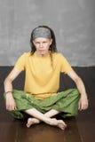 Man& x27; s portret z dreadlocks, hipisa styl Fotografia Stock
