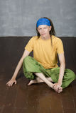 Man& x27; s portret z dreadlocks, hipisa styl Obraz Royalty Free