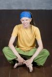 Man& x27; s portret z dreadlocks, hipisa styl Fotografia Royalty Free