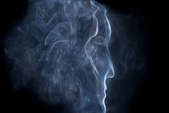A man's profile from smoke Royalty Free Stock Photography