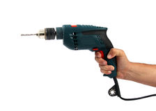 Free Man S Right Hand Handling A Drilling Machine Stock Photography - 21418822
