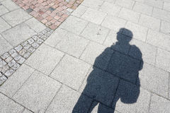 Man's shadow Stock Images