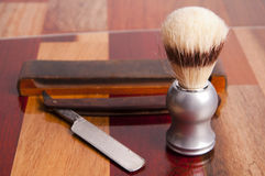 Man`s shave accessories Stock Photos