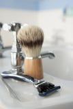 Man's shaving kit Stock Images