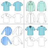 Man`s shirt set Stock Images