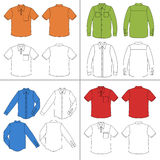 Man`s shirt set Royalty Free Stock Images