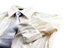 Man's shirt and tie isolated. On white background Royalty Free Stock Images