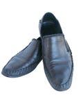 Man's shoes. Stylish black shoes isolated on a white backgroun stock illustration
