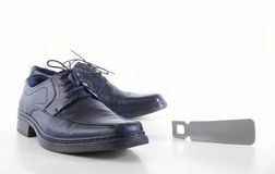 Man's shoes and accessories for footwear. On the white background Stock Photo
