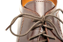 Man's shoes from a brown leather Stock Image