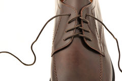 Man's shoes from a brown leather Royalty Free Stock Photography